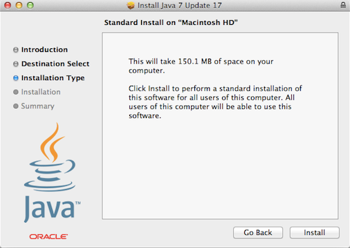 Installing Java with a package.