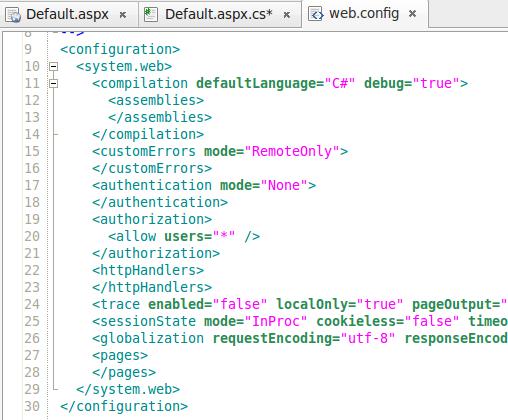 Web.config file