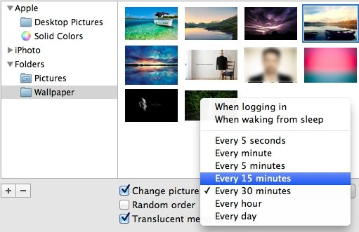 Create a background slideshow from your images