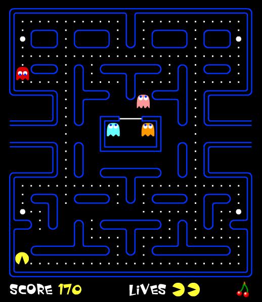 The original Pac-Man arcade game