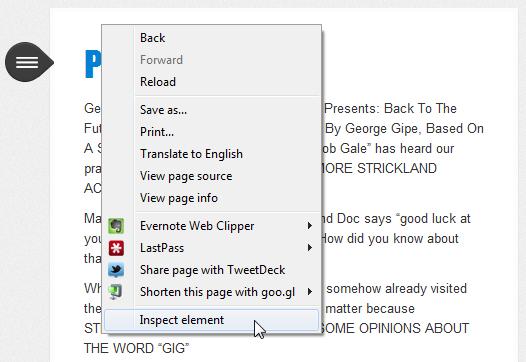 Inspect Element (Chrome)