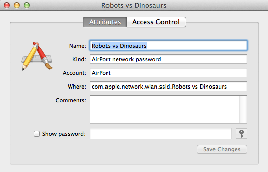 """Find your WiFi network, and click the """"show password"""" box."""
