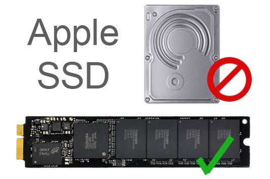 """Apple uses a proprietary chip-style SSD in its laptops, not the common 2.5"""" SATA SSD so the Secure-Erase command is not a feasible option."""