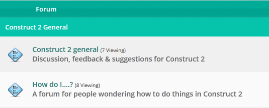 The forums where you can ask technical questions about Construct 2