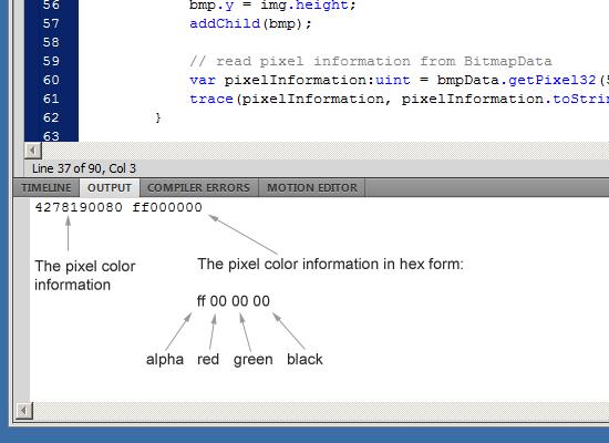 getPixel32 and hex values