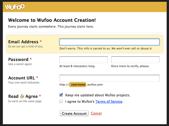 1-wufoo-account