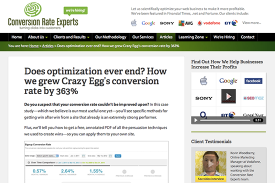 Full story Does optimization ever end How we grew Crazy Eggs conversion rate by 363