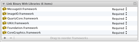 Required Frameworks Have Been Added