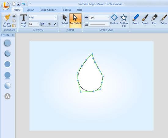 drawing water drop