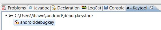 Opening the Keystore Screen 3