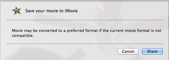 iMovie makes things a bit more complex.