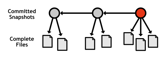 Figure 7: Recording complete snapshots, not differences between revisions