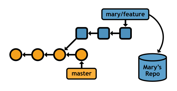 Figure 34: Accessing a feature branch from a remote repository
