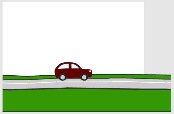 Positioning the car and the road