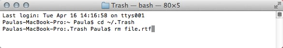 Remove only the problem file keeping Trash from emptying.
