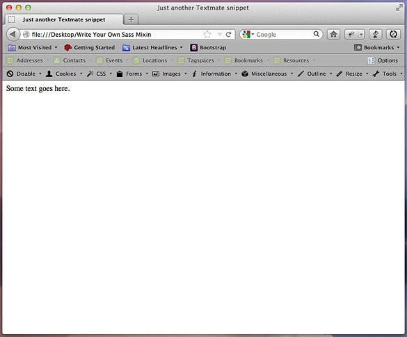 A basic index.html file