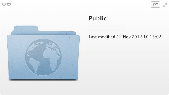 Dropbox contains a Public folder which we're going to take advantage of.