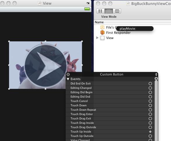 MediaPlayer Framework Button Connection