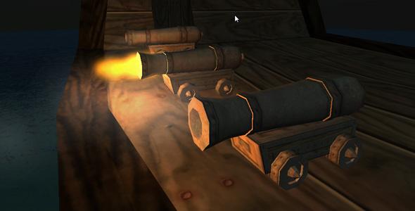 Unity3d Pirate Cannon Prefab