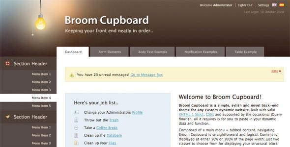 Broom Cupboard Admin Skin