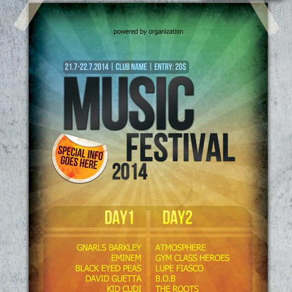 Music Festival Poster & Flyer