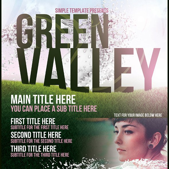 Green Valley Poster Template