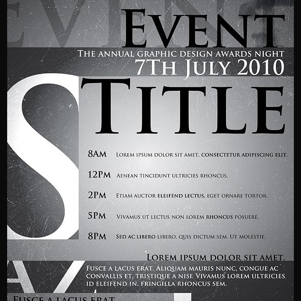 Typographic Poster Template