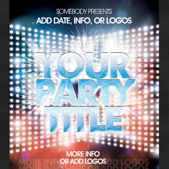 Flashy Nightclub / Event Poster-Flyer