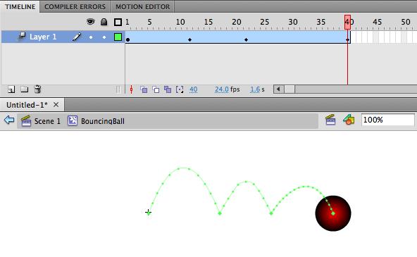 Creating a bouncing ball animation