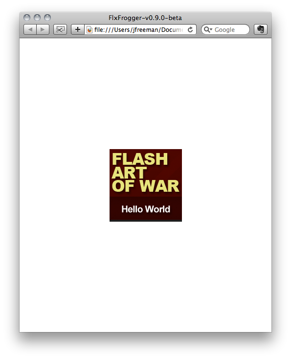 FlxFrogger-hello-world