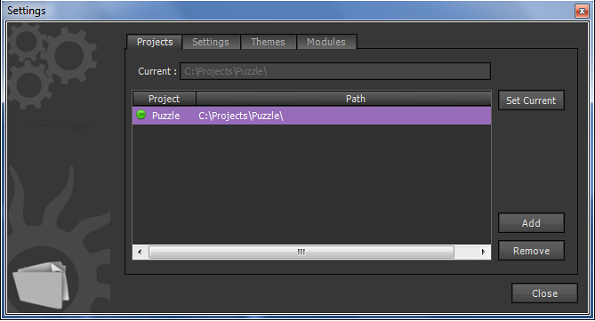 Selecting Project Path