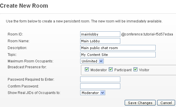 new chat room