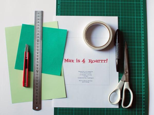 origami_dinosaur_invite_supplies1