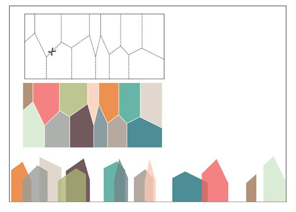 step-1-pattern-how to cut the houses