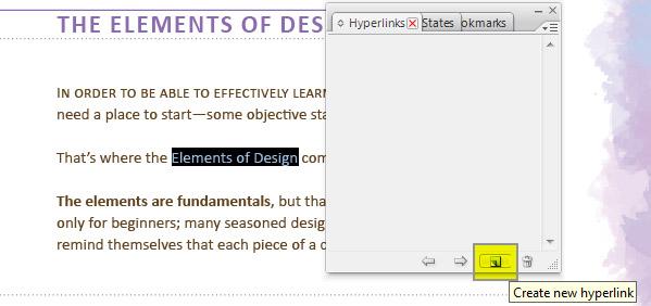 Step 1 - New Hyperlink