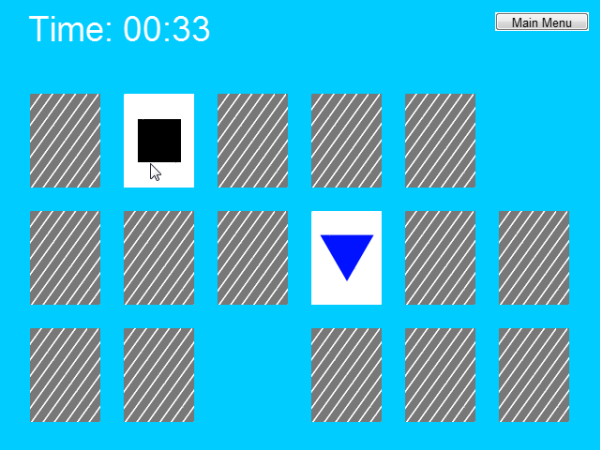 Construct 2 memory game