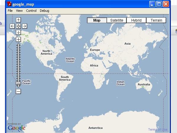 google maps api for flash