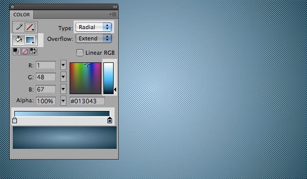 applying a gradient