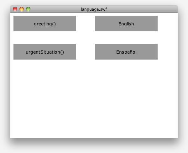 The four-button UI