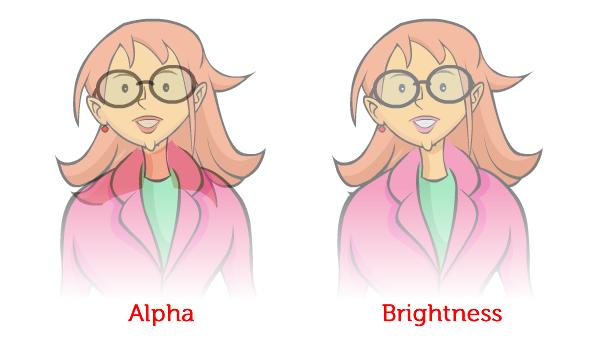 Alpha vs. Brightness
