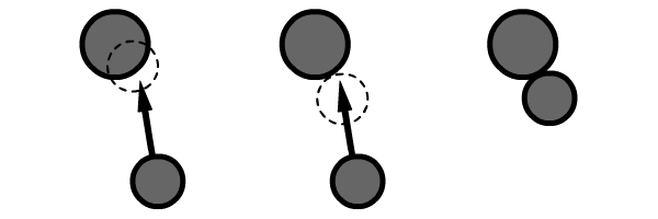 Implementing repelling displacement onto a ball