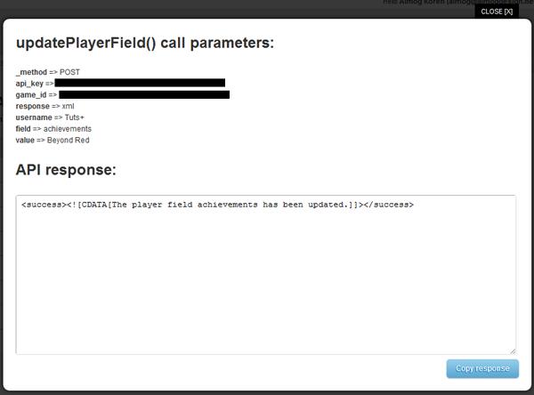 Update Player Field Response