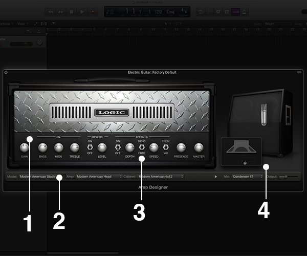 Amp Designer puts 25 matched guitar amps and speaker cabinets at your disposal