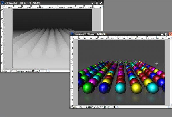Rendering Z-depth passes in Maya and compositing in Photoshop to achieve realistic depth of field