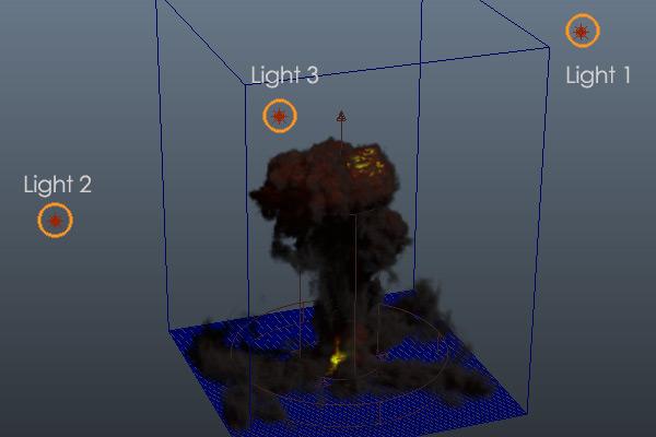 Tutorial Realistic Explosion In Maya With Maya Fluids