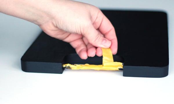 calendar tut- step 9-remove tape