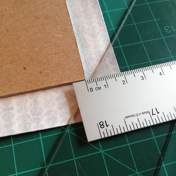 Cut the corners of your cloth at a 45 degree angle