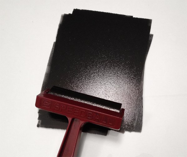 roll out the ink with your brayer