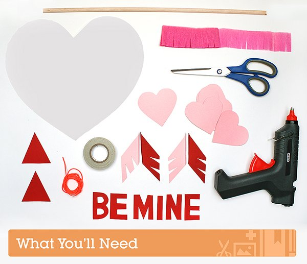 What you'll need to make a Valentine's Day Pinata