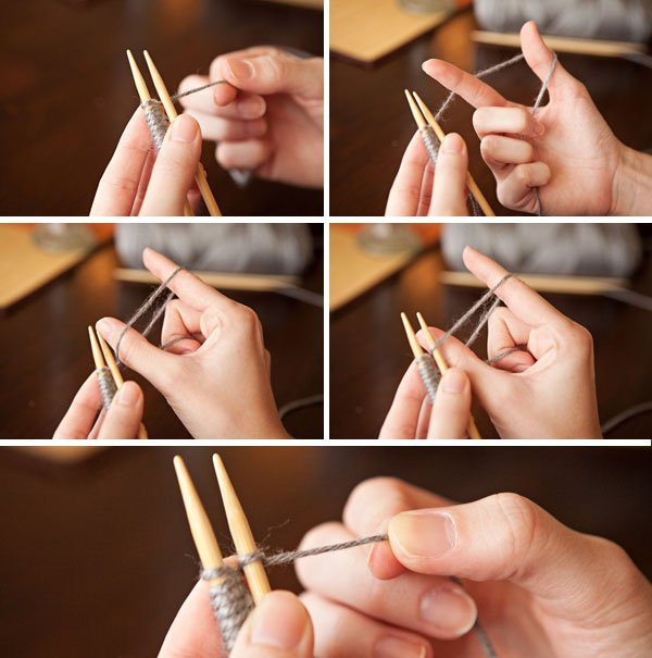 How to Cast Onto the Second Needle